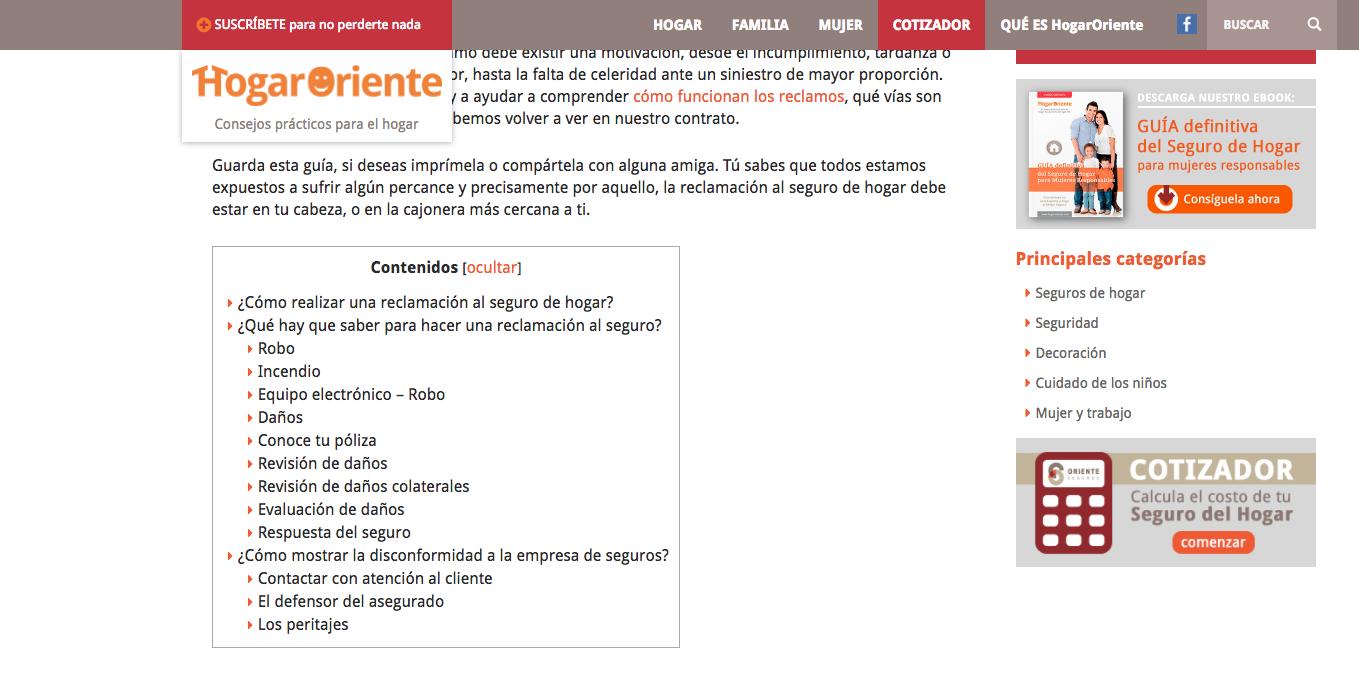 ejemplo cuadro de contenidos en un post wordpress
