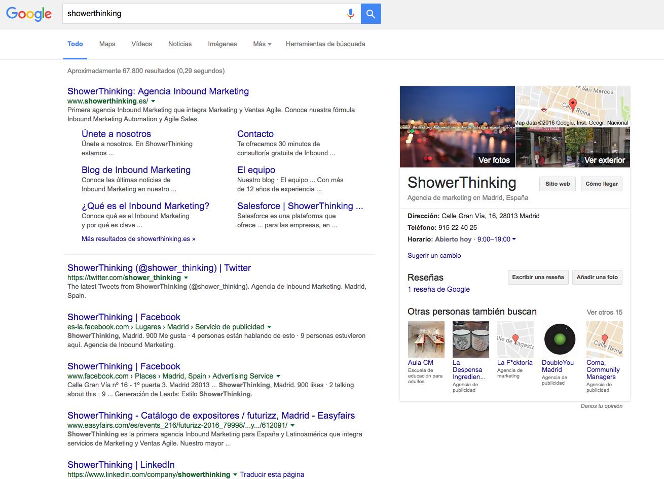 ShowerThinking en Google