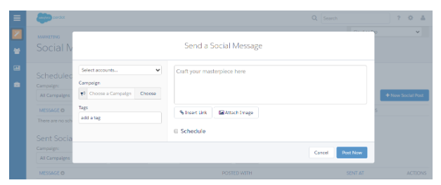 Pardot Herramienta de Marketing Automation: Send a Social Message