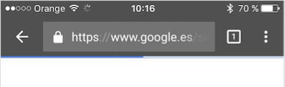 Ejemplo de animación barra de búsqueda Google