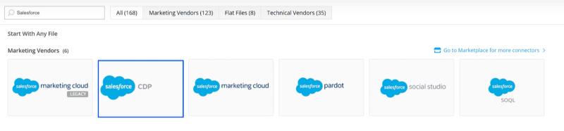 Cargar datos de Salesforce CDP en Datorama